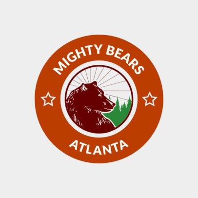 Hockey Logo Generator with Bear Illustration 1561b