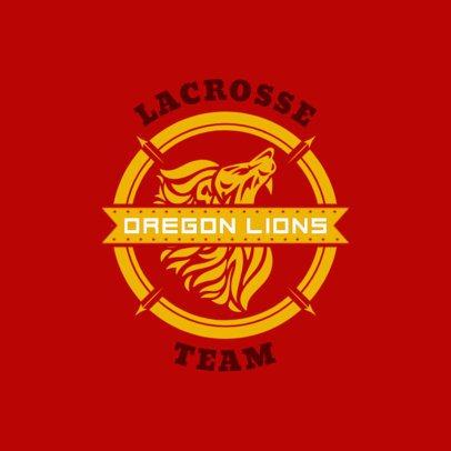 Simple Lacrosse Logo Maker for a Lacrosse Team 1593a