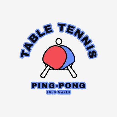 Table Tennis Logo Template 1624