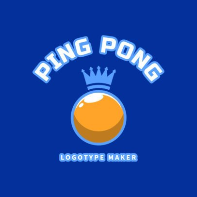 Ping-Pong Logo Maker with Golden Ball 1624c