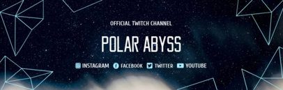 Twitch Banner Creator with Space Background and Polygons 1036e