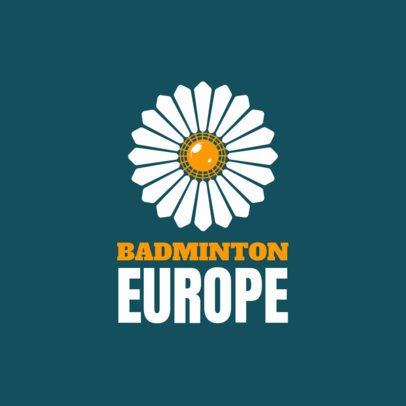 Badminton Logo Maker with Simple Badminton Graphics 1629a