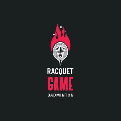 Simple Badminton Club Logo Maker 1629b