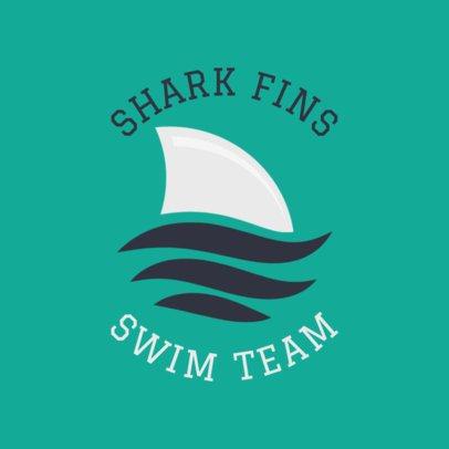 Swim Team Logo Maker with Shark Clipart 1578b