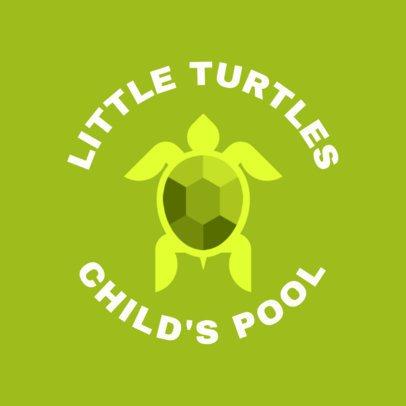 Swimming Logo Template for a Children's Swim Team 1578c