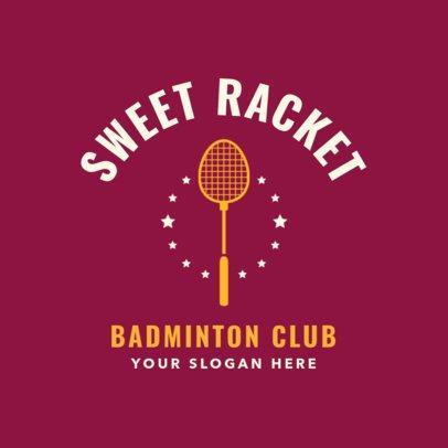 Badminton Club Logo Maker with a Badminton Racket Clipart 1631e