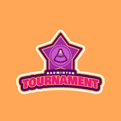 Professional Badminton Logo Maker for a Badminton Tournament 1628d