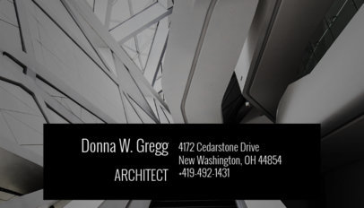 Business Card Maker for Architecture Students 182b