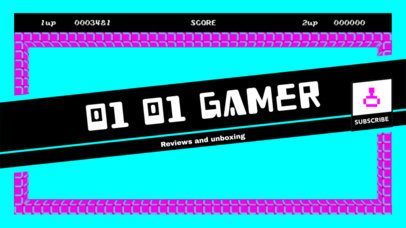 YouTube Banner Maker with Gaming Graphics 393b