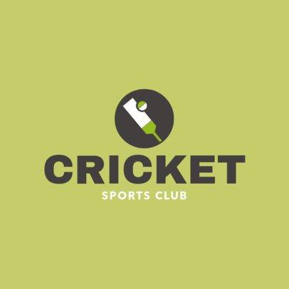 Simple Cricket Logo Maker 1653d