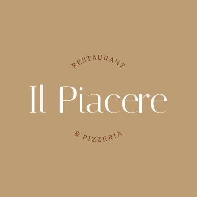 Minimalistic Italian Restaurant Logo Creator 1662a