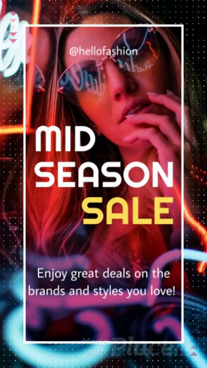 Fashionable Instagram Story Video Maker for a Season Sale Promo Video 943