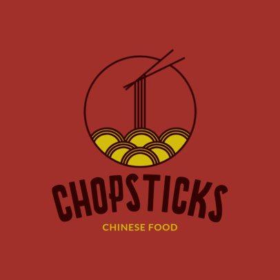 Chinese Restaurant Logo Maker with Chopstick Clipart 1667d