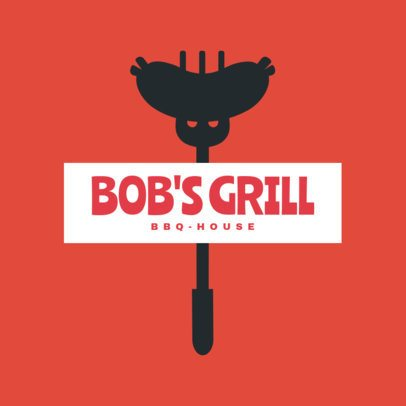 BBQ House Restaurant Logo Maker 1678a
