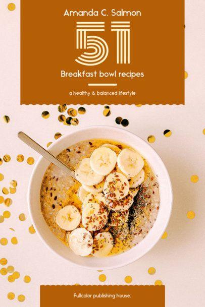 Cookbook Cover Template for Breakfast Bowl Recipes 909e