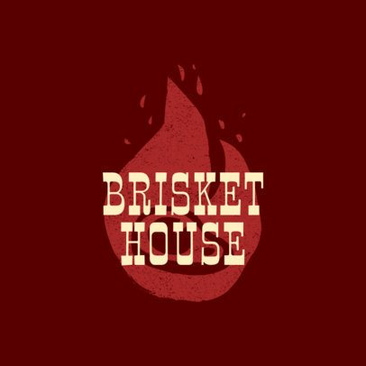 BBQ Restaurant Logo Maker for a Brisket House 1674a