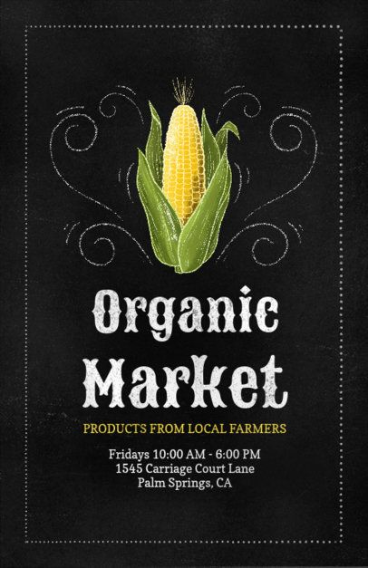Online Flyer Template for an Organic Market 265c