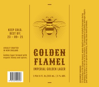 Beer Label Template for an Imperial Lager 770c