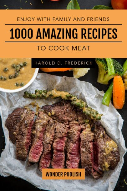 Book Cover Maker for a Meat Recipes Book 910a