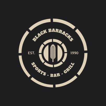 Bar Logo Maker with a Circular Badge 1686
