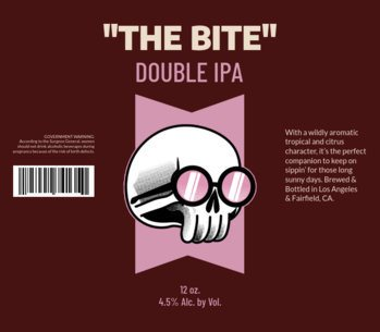 Double IPA Beer Label Generator with Funny Skull Illustration 771e