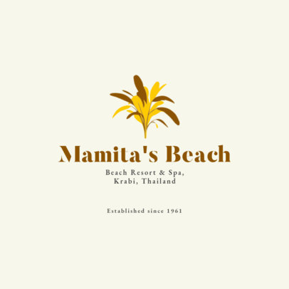 Logo Maker for a Beach Resort and Spa 1761a