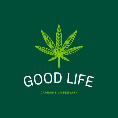 Weed Logo Maker for a Cannabis Dispensary 1778a