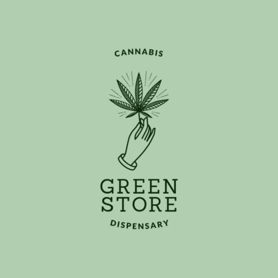 Hemp Logo Maker with Weed Icon 1779b