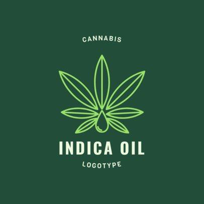 Medical Marijuana Logo Maker with a Cannabis Indica Graphic 1779e