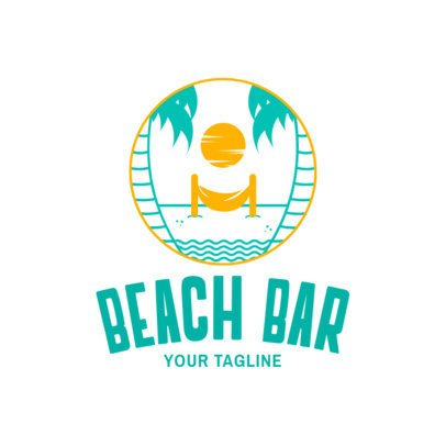 Beach Club Logo Maker 1760a