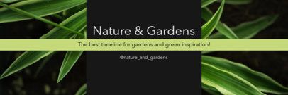 Twitter Header Generator for a Nature Account 1093c