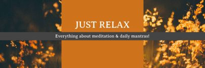 Twitter Header Maker for a Meditation Blog 1093e