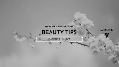YouTube Banner Template for a Beauty Tips Channel 1078a