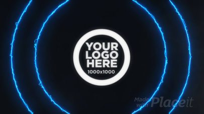 Intro Maker for an Animated Gaming Logo with Lightning Effects 1157