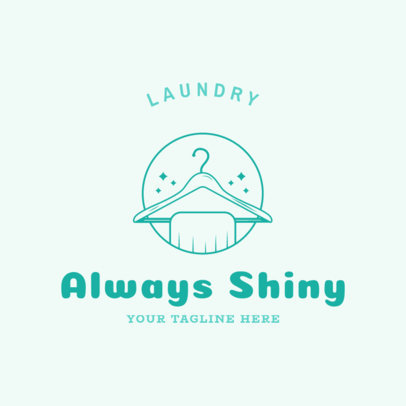 Laundry Service Logo Template with a Hanger Graphic 1777a