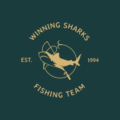 Fishing Logo Maker Featuring Shark Illustrations 1796d