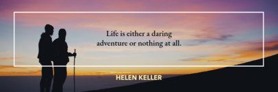 Twitter Header Maker for a Quote Against an Adventure Background 1092c
