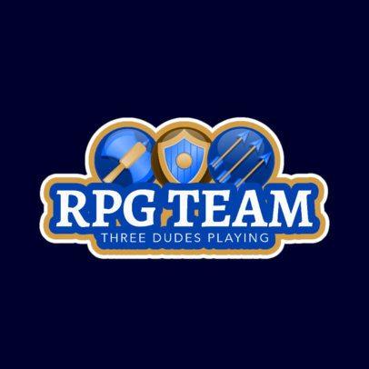 RPG Gaming Logo Template for an RPG Gaming Team 1742