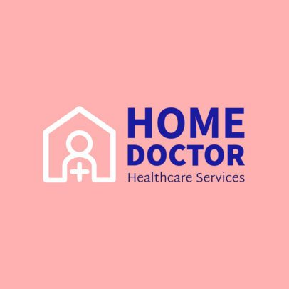 Home Healthcare Logo Design Template for a Home Doctor 1803c