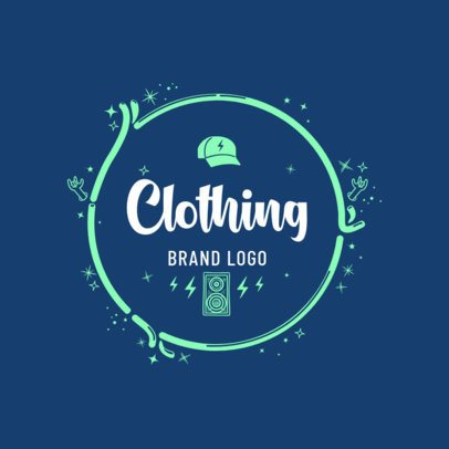 Clothing Brand Logo Maker with Circular Background 352a