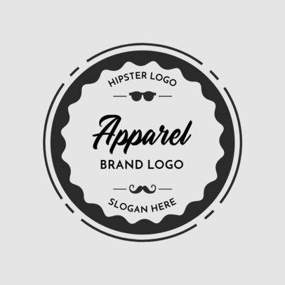 Apparel Brand Logo Maker with Shape Backgrounds 352b