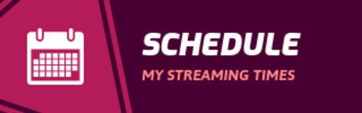 Streaming Schedule Twitch Panel Maker 1107e