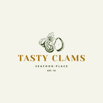 Seafood Logo Maker With Clam Clipart 1797a