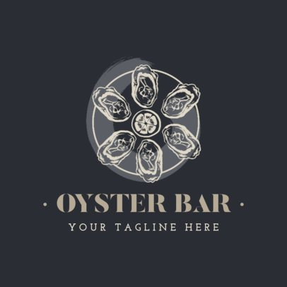 Oyster Themed Logo Generator for a Seafood Restaurant 1798c