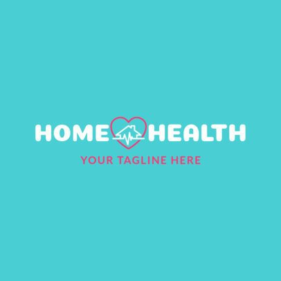 Simple Home Healthcare Logo Maker 1804