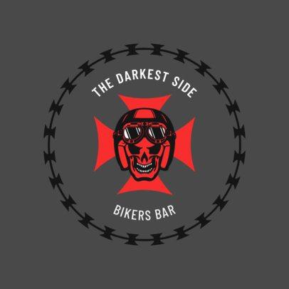 Cool Bar Logo Maker for Choppers with a Biker Skull 1763b
