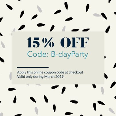 Coupon Design Generator for a Birthday Discount 1021e