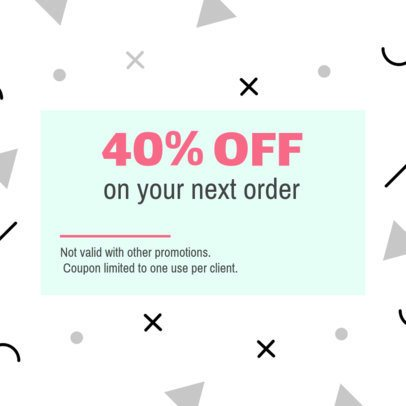 Birthday Discount Coupon Template with Modern Design 1021b