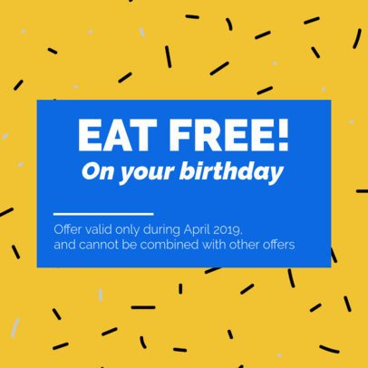 Colorful Coupon Template for a Birthday Coupon 1021c