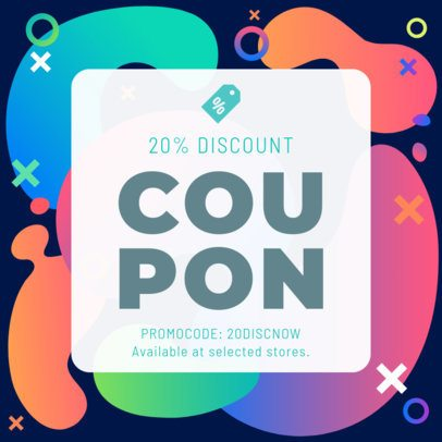 Crazy Hued Coupon Design Maker 1031